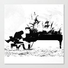 Pianist Passion Canvas Print