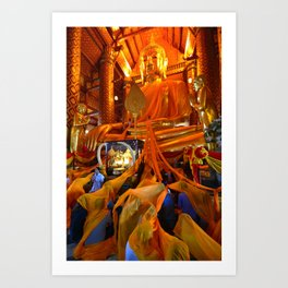 Wat Phanan Choeng (Thailand) Art Print
