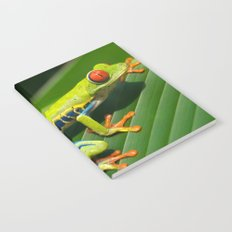 Green Tree Frog Red-Eyed Notebook
