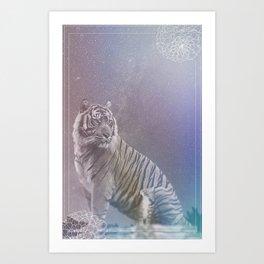 Kitten and Tiger Art Print
