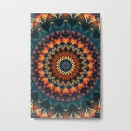 Fundamental Spiral Mandala Metal Print