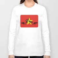 vietnam Long Sleeve T-shirts featuring Vietnam Flag, Roosters Sparring by mailboxdisco