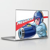 megaman Laptop & iPad Skins featuring Megaman Fanart by avimHarZ