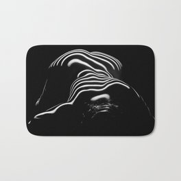 0686-AR BW Contemporary Art Nude Large Woman BBW Graceful and Strong Bath Mat