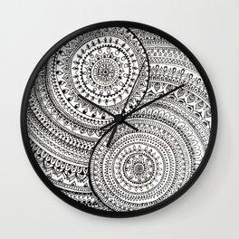 Yin Yang doodle Wall Clock