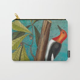 Red Headed Woodpecker with Oak, Natural History and Botanical collage Carry-All Pouch