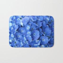 Gorgeous Baby Blue Hydrangeas  Floral Art Bath Mat