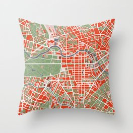 Berlin city map classic Throw Pillow