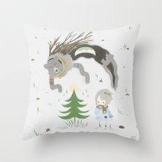 Bear spirit Throw Pillow