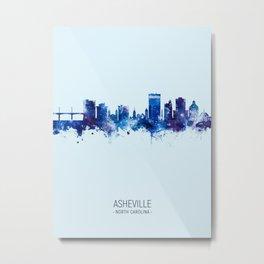 Asheville North Carolina Skyline Metal Print