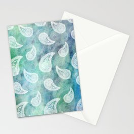 The Deep Blue Paisley Stationery Cards