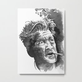 Lynch Smoking Metal Print