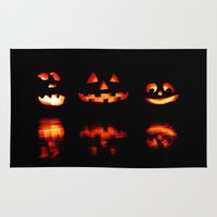 halloween Area & Throw Rugs featuring haLLoween by 2sweet4words Designs