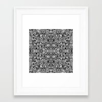 zentangle Framed Art Prints featuring Zentangle  by Zenspire Designs