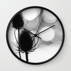 Teasel Silhouette Wall Clock