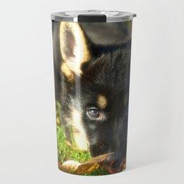 Cute 8 weeks old shepherd puppy Travel Mug