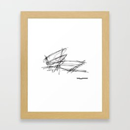 Gehry Doesn't Sketch to Scale Framed Art Print
