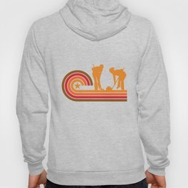 Retro Style Curlers Silhouette Curling T-Shirt Hoody