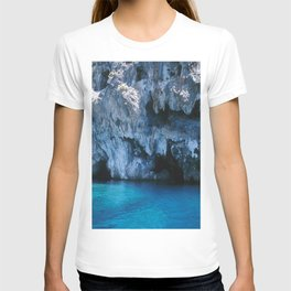 NATURE'S WONDER #3 - BLUE GROTTO #art #society6 T-shirt
