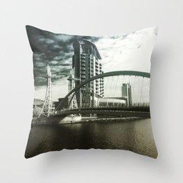salford quays Throw Pillow