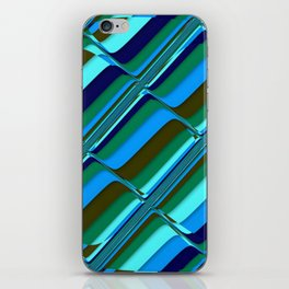 Vibrant Tiles in Blue, Green, Navy and Mint iPhone Skin