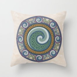 Ninth Wave Shield Throw Pillow