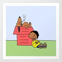 Danny Brown + Snoopy Dogg Art Print