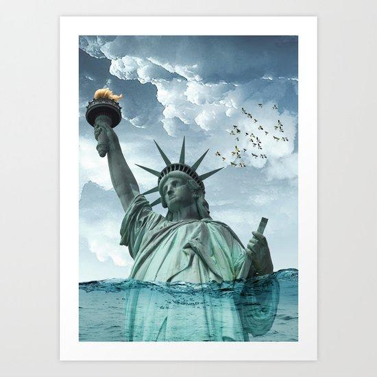 the water line Art Print