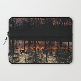 Sunset At The Pond Laptop Sleeve