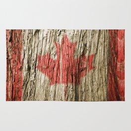 Canada on woods Rug