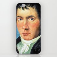 beethoven iPhone & iPod Skins featuring Beethoven by SuchDesign