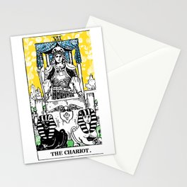 Floral Tarot Print - The Chariot Stationery Cards
