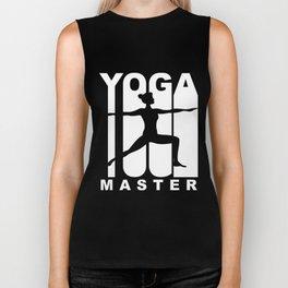 Vintage Style Yoga Master Warrior Two Yoga Pose Biker Tank