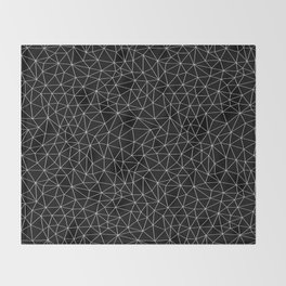 Low Pol Mesh (negative) Throw Blanket
