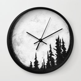 Full Moon & Trees Wall Clock