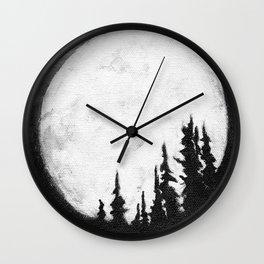 Full Moon & Trees Wall Clock
