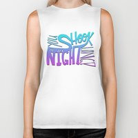 acdc Biker Tanks featuring All Night Long by Leah Flores