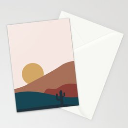 Sunset in the desert Stationery Cards