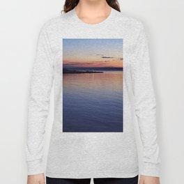 A sunset view of Ballyholme Long Sleeve T-shirt