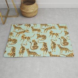 Tiger Collection – Mint & Orange Rug