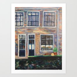 Canal Delft, Holland Art Print
