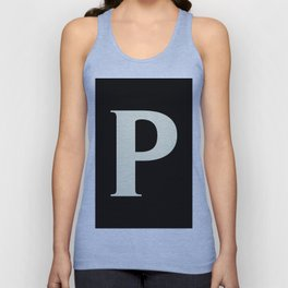 P MONOGRAM (BEIGE & BLACK) Unisex Tank Top