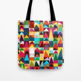 Abstract Geometric Mountains Tote Bag