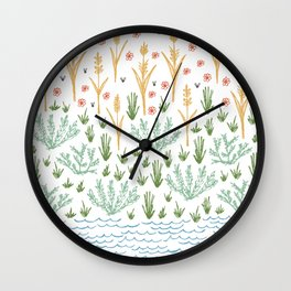 simple nature illustration Wall Clock