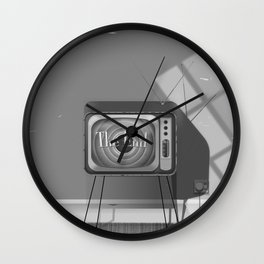 Vintage Black and white cartoon Wall Clock