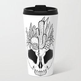GROW - Succulents in a skull Travel Mug