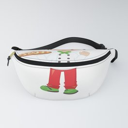 Pizza Party Pizza Lover Brunette Pizza Boy Pizza Chef Fanny Pack