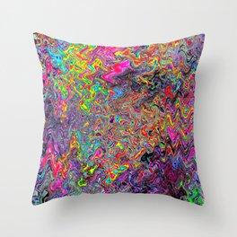 Alien Dubstep Throw Pillow
