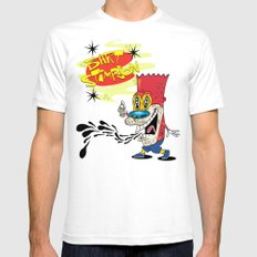 Bart Stimpson White SMALL Mens Fitted Tee