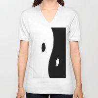 yin yang V-neck T-shirts featuring Yin Yang by ArtBite